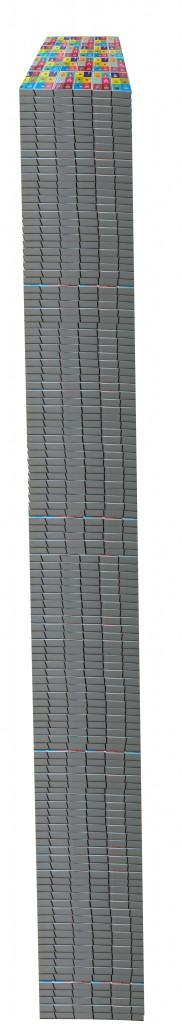 124 étages de 24 boîtes d'allumettes