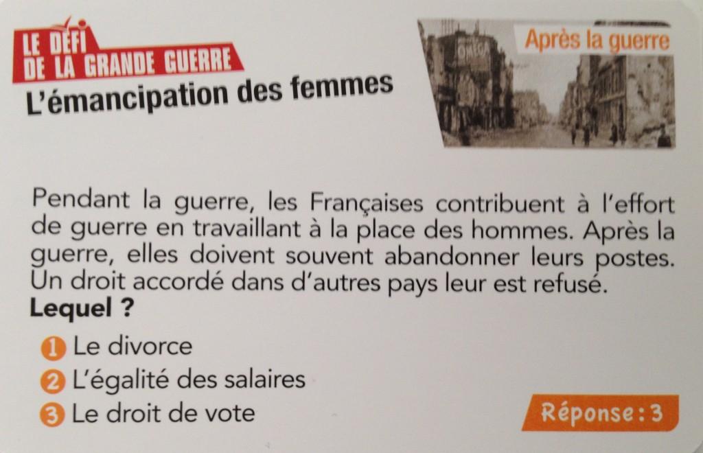 Emancipation des femmes