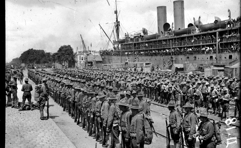 Arrivée des premiers Américains, 26 juin 1917