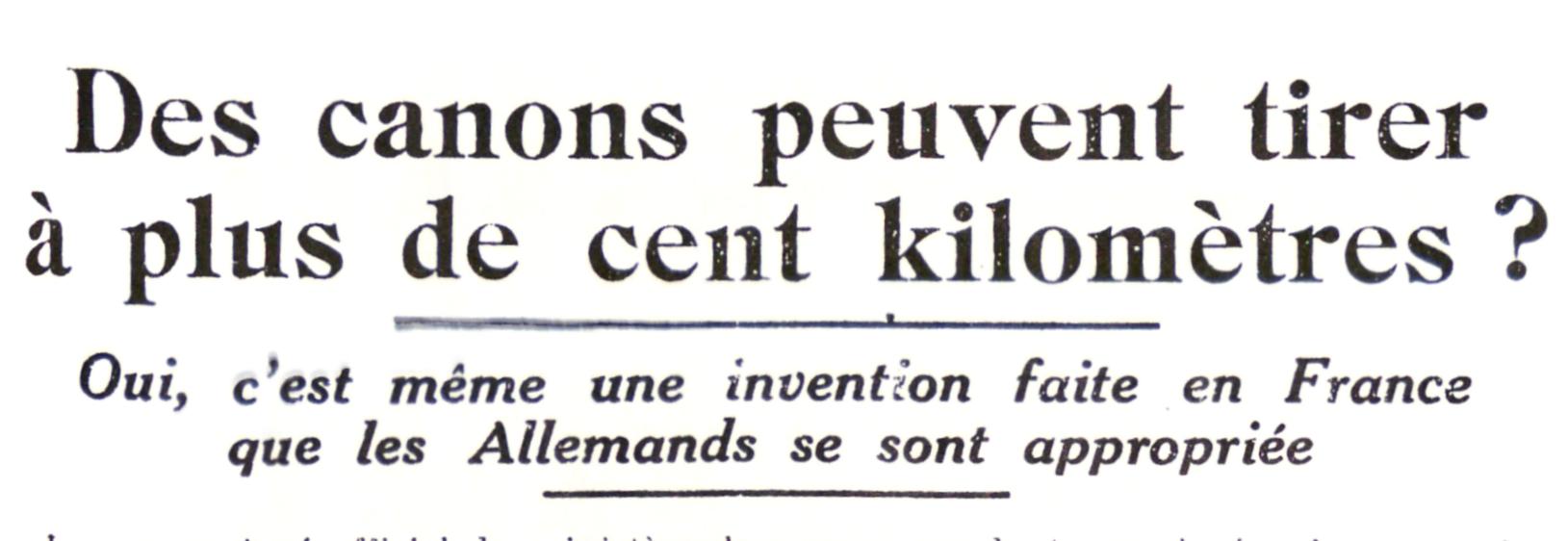 23 mars 1918 : Paris bombardé