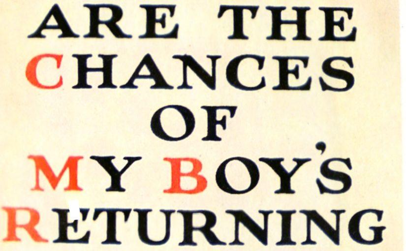 Quelles chances a mon fils de revenir de la Grande Guerre