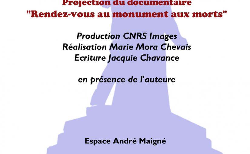 """Documentaire """"Rendez-vous au monument aux morts"""""""